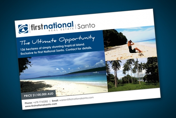 FNS Ultimate Opportunity Half Page Ad for Island Spirit Magazine