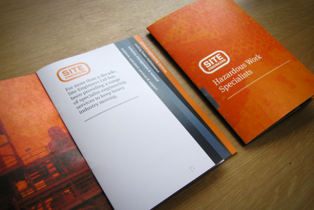 Site Engineers tabbed brochure