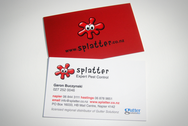 Splatter business card