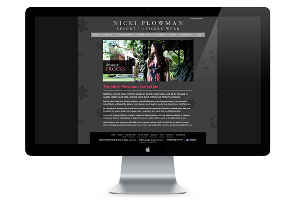 Nicki Plowman Website - Home Page
